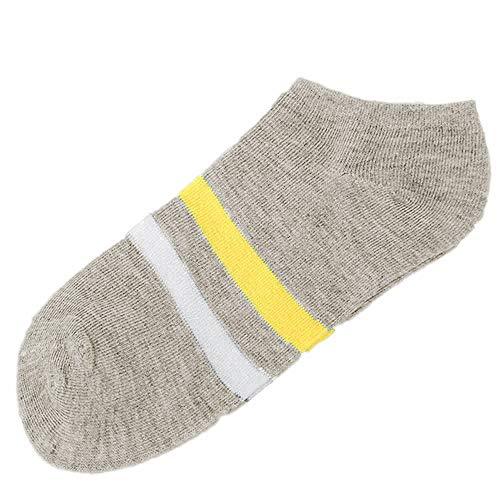 ZZBO Herren und Damen Stripe Sneaker Socken Ringel Socken Kurze Freizeit Bequeme ohne Naht am Zeh Baumwolle Melange Zweifarbig Mode