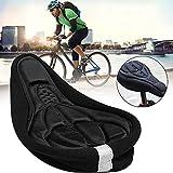 Apofly Silicone 3D Selle de Vélo Doux Coussin de Gel Selle de Bicyclette Antidérapant Siège de Vélo Amortisseur de Chocs pour VTT Vélo de Route XS
