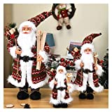 Christmas Doll Christmas Decorations 2021 New Year's Gift Santa Claus Doll High Grade Navidad Home Ornaments Children's Toy Gifts 30/45/60 cm (Color : Olive, Size : 30 cm)