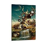 XUYAN Abstrakter Baum Malerei Poster von Salvador Dali