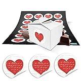 24 kleine weiße Geschenkschachteln Geschenkboxen Verpackung für Geschenke 8 x 6,5 x 5,5 + runde...