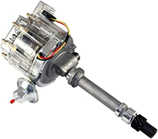 Assault Racing Products 1435004 Chevy V8 HEI Distributor 50K Volt Coil HP Module Clear Cap with Tach Drive SBC BBC 350 454