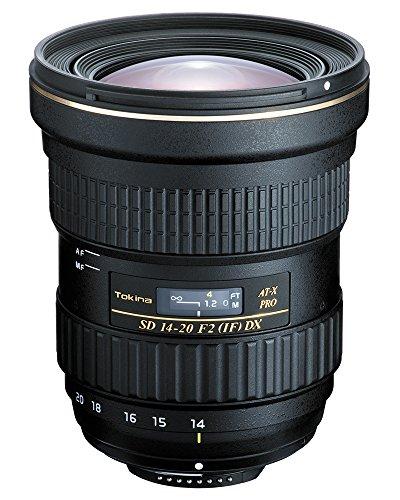 Tokina AT-X 14-20 mm F2 Pro DX - Objetivo para cámara EVIL Nikon (diámetro filtro 82 mm), color negro