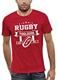 PIXEL EVOLUTION T-Shirt Rugby Toulouse Homme - Taille M - Rouge