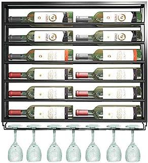Beautifully botellero y botellero de Metal Ferroso y Soporte de Vidrio decoración de Pared para Compartimento de Almacena...