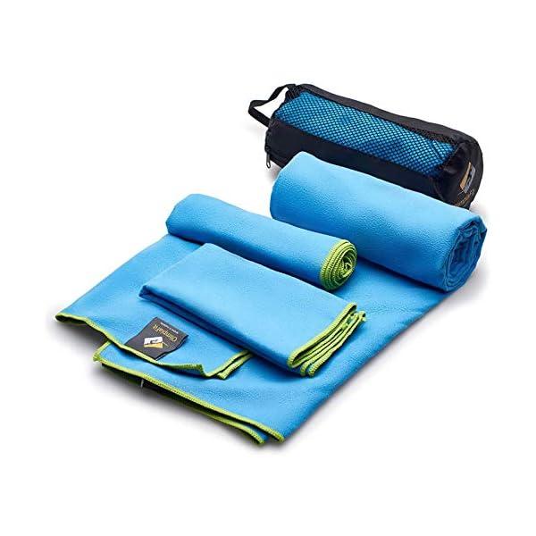 OlimpiaFit Microfiber Towels – Quick Dry 3 Size Pack (51inx31in, 30inx15in,...