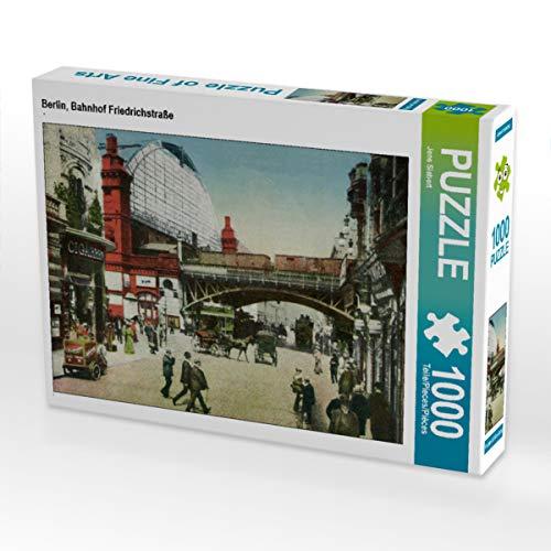 CALVENDO Puzzle Berlin, Bahnhof Friedrichstraße 1000 Teile Lege-Größe 64 x 48 cm Foto-Puzzle Bild von Jens Siebert