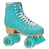 Roller Derby Candi Girl U774 Carlin Quad Artistic Roller Skates Seafoam Ladies...