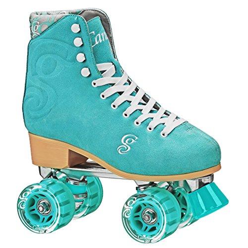 ROLLER DERBY Candi Girl U774 Carlin Quad Artistic Roller Skates Seafoam Ladies sz 6