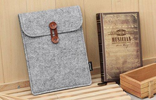 ENJOY-UNIQUE Für KOBO Aura One 19,8cm eReader Filz Schutzhülle Sleeve Tasche für iPad Mini (grau)