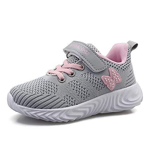 Zapatillas de Deporte Niños Niña Zapatos de Gimnasia Niñas Pequeñas Running Zapatos...