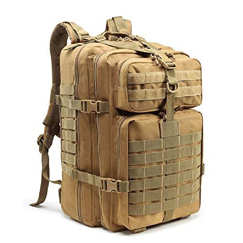 YUANZHOU Mochilas táticas masculinas de grande capacidade 40 l – Sacos militares para uso ao ar livre 3P EDC Molle Pack para trekking acampamento caça