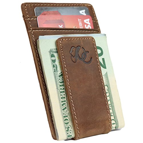 Urban Cowboy Geldbörse mit Geldklammer für Herren – echtes Leder