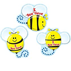 I Bee lieve Shape Stickers