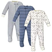 Yoga Sprout Unisex Baby Cotton Zipper Sleep and Play, Hedgehog, 3-6 Months
