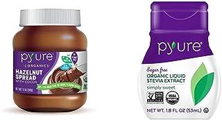 Organic Hazelnut Spread with Cocoa by Pyure | Keto Friendly, No Palm Oil, Vegan | 13 Oz & Organic Liquid Stevia Extract Sw...