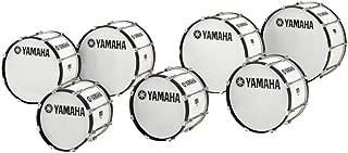 Yamaha Power-Lite Marching Bass Drum White Wrap 24x13