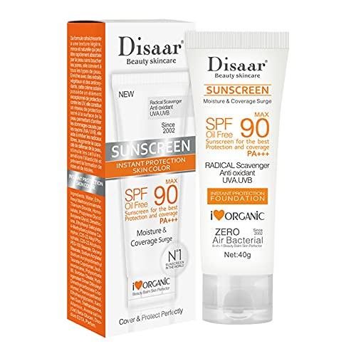 SUN Sonnencreme fürs Gesicht - feuchtigkeitsspendendes Sonnencreme, Anti-Age und Anti-Pigmentflecken, Lichtschutzfaktor SPF 90, 40g (1 Stück)