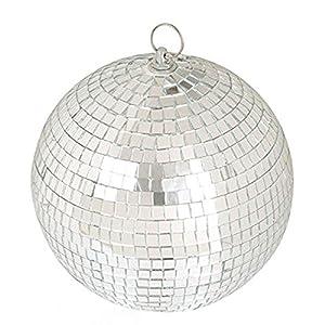 """LEEUEE 6"""" Disco Mirror Ball?Silver"""