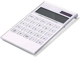 $47 » Electronics 12-bit Widescreen Display Solar Button Battery Dual Power Calculator Desktop Office Supplies Portable with Mem...