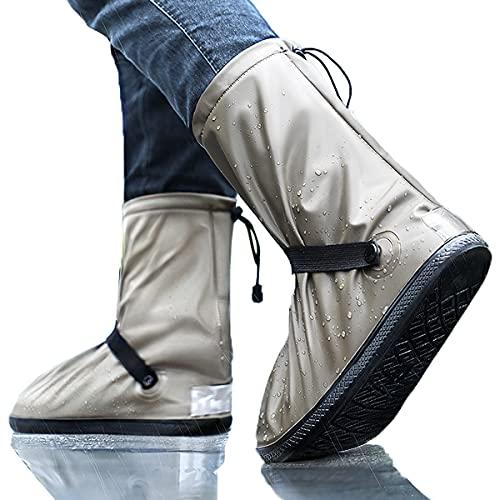 Luckism Cubrezapatos reutilizables, impermeables, protección contra la lluvia, zapatos de senderismo, para hombre y mujer, color marrón, talla 39-40