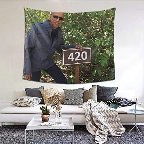 Melyar 420 Obama Print Boutique Wall Tapestry Pop Art Retro Micro Microfiber Peach Peach Home Decoration 60x51inch