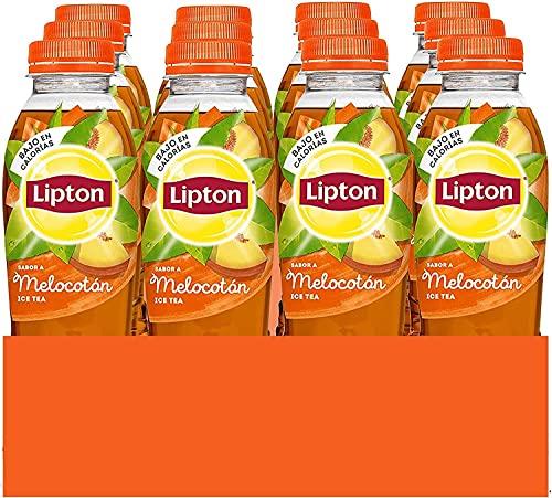 Lipton Melocotón 500ml, Refresco de Té, Botella, Pack de 12 x 500 ml