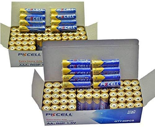 Combo AA AAA Heavy Duty New Outlet sale feature sales Battery 60 1.5v R6P Carbo R03P+40