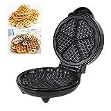 YIFUSUO En Forma de corazón de la Galleta del corazón Maker- Antiadherente Waffle Plancha de Hierro 5 Waffles Fabricante 1200W para Las Galletas, o Cualquier Desayuno, Almuerzo y Snacks