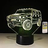 Nur 1 Artikel 3D-Lampe Fernbedienung Touch Car Kinderspielzeug Kind Geburtstagsgeschenke Lichter Beleuchtung LED-Lampe für Schlafzimmer