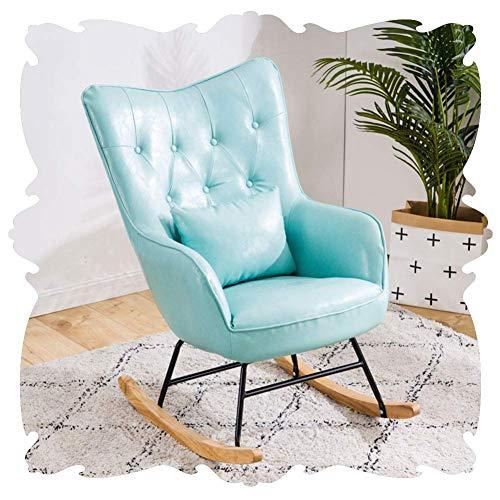 Lounge Chair Mecedora de Hogares del sillón clásico de Respaldo Alto Sillones Individual Retro tumbonas decoración de Muebles reclinables Porches Balcón 3 Color (Color : Blue, Size : 75x70x97cm)