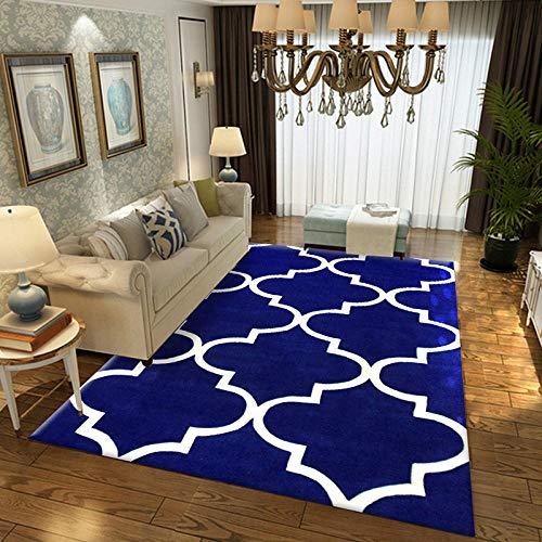 Geometrische moderne tapijt voor woonkamer Slaapkamer Slaapbank Koffie Studie Anti-Slip Tapijten Showcase tapijten Huishoudelijke tapijt 160cmX230cm Saffier