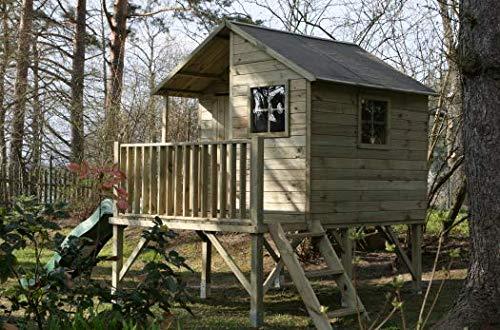 Spielhaus Kinderspielhaus Holz-Gartenhaus Spielhütte aus Holz für Kinder - (3992)