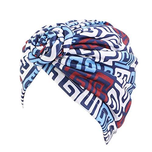 DYXYH Cap de Cabello de patrón de Flores Mujeres Turbante Turbante Pañuelo de Las señoras de Pelo Accesorios de Estilo (Color : Type 5)
