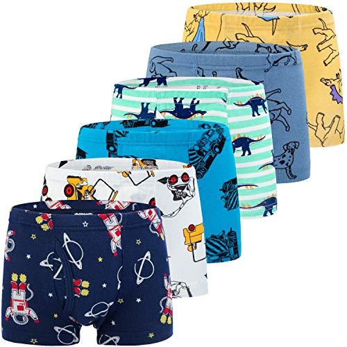 Auranso Boys Boxer Shorts Dinosaur Underwear Toddler Boy Pants Sets Kids...