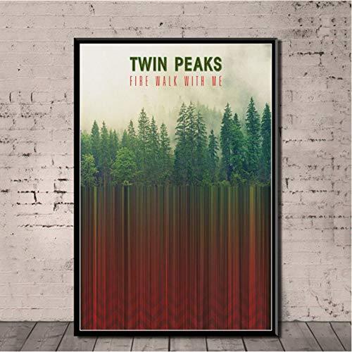 Not Affiche Twin Peaks TV Series Montre Classique Toile Peinture À l'huile Art Mur Photos pour Salon Décor À La Maison 50 × 70 Cm sans Cadre