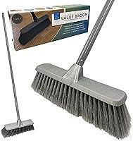 Indoor Broom Soft Bristle Sweeping Brush - Perfect Kitchen Broom for Laminate, Vinyl or Wooden Floor
