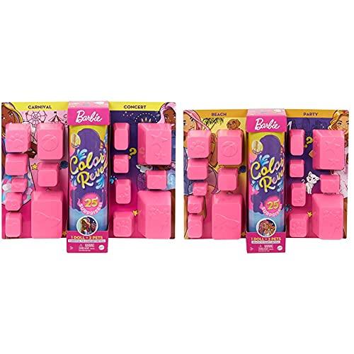 Barbie Ultimate Color Reveal Bambola Con 25 Sorprese 2 Cuccioli 15 Sacchettini Con Abiti E Accessori & Ultimate Color Reveal Bambola Con 25 Sorprese, 2 Cuccioli, 15 Sacchettini Con Abiti E Accessori