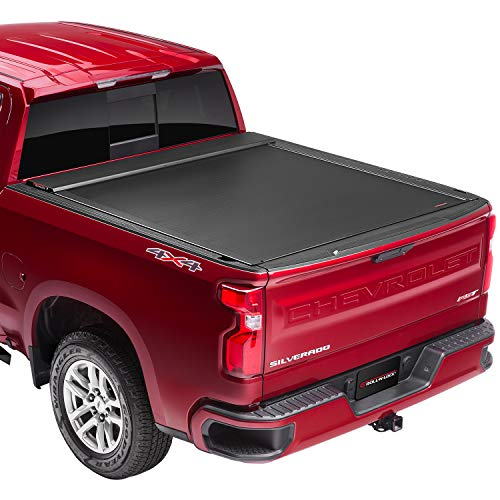 "Roll-N-Lock E-Series Retractable Truck Bed Tonneau Cover   RC221E   Fits 2014 - 2018, 2019 Ltd/Lgcy Chevy/GMC Silverado/Sierra 6' 7"" Bed (78.8""), Premium Powder-Coated Finish"
