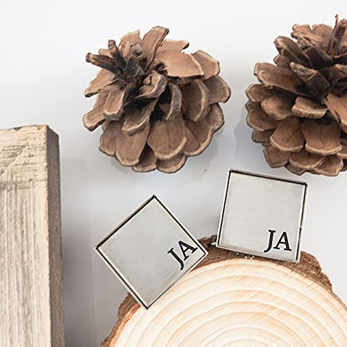 Personalized Initials Cufflinks Gift for Him Mens Gift Personalized Anniversary Gift Cufflinks Wedding Gift Idea Personalized Gift Idea JEFFREY-CUFFLINKS