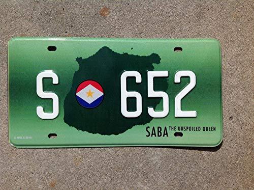 Inga New Sign Saba Plaque d'immatriculation 15,2 x 30,5 cm