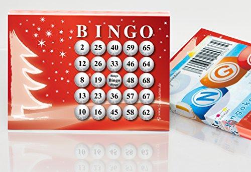 DiPrint 100 große Bingokarten für die Weihnachtsfeier 24 aus 75 Zahlen
