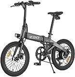 HIMO Z20 Bicicleta eléctrica plegable con batería extraíble y bomba de carro, rendimiento impermeable IPX7, pantalla LCD de alta resolución de 20 pulgadas, bicicleta eléctrica de aluminio (gris)