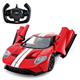 Rastar Radio Remote Control 1/14 Scale Ford GT Licensed RC Model Car w/Open Doors (Red)