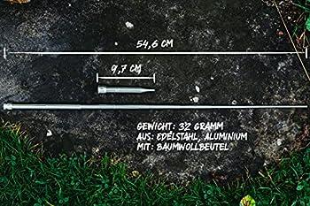 WIKA Tube de soufflage télescopique en acier inoxydable, pour extérieur, survie, gadget, camping, barbecue, Blow Fire Tube, Blowpipe