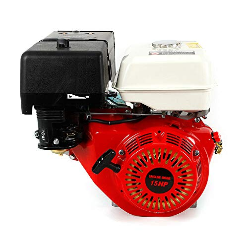 DNYSYSJ 420CC Engine 15 HP 4 Stroke OHV Horizontal Gas Gasoline Engine Single Cylinder Go Kart Garden Motor