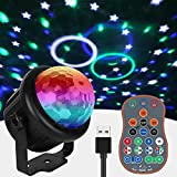 Disco Strobe Lights For Parties, Sound Activated Paty Light with Remote Control Disco Party Lights Night Lights for Kid Bedroom Bar Club KTV Wedding Birthday Gift for women/Kid/men