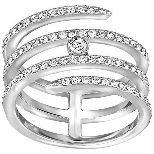 Swarovski Women Silver Crystal Rings