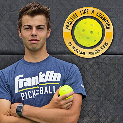 Franklin Sports X-40 Outdoor Performance Pickleballs - 12 Pack Bulk - USAPA Approved - Optic - Official Ball of US Open Pickleball Championships