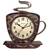 Westclox 32038 Coffee Time 3-D Wall Clock, Metal